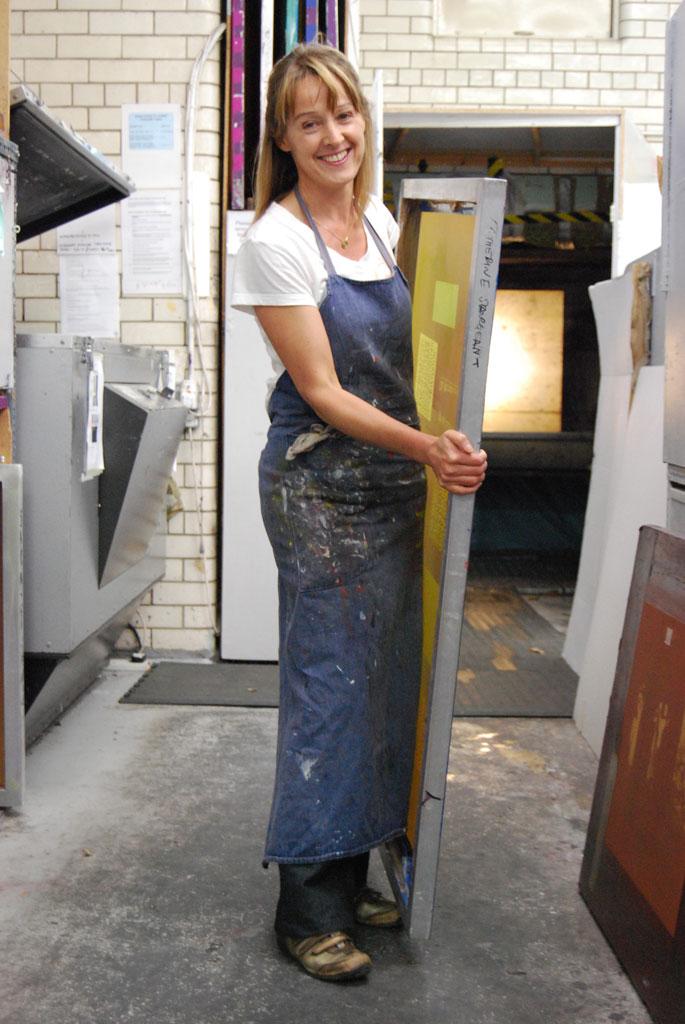 Catherine Sargeant in the studio