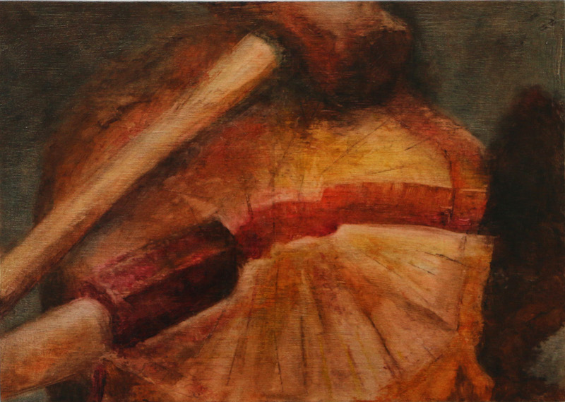 'cleave' - oil on wood  30cmx23cm