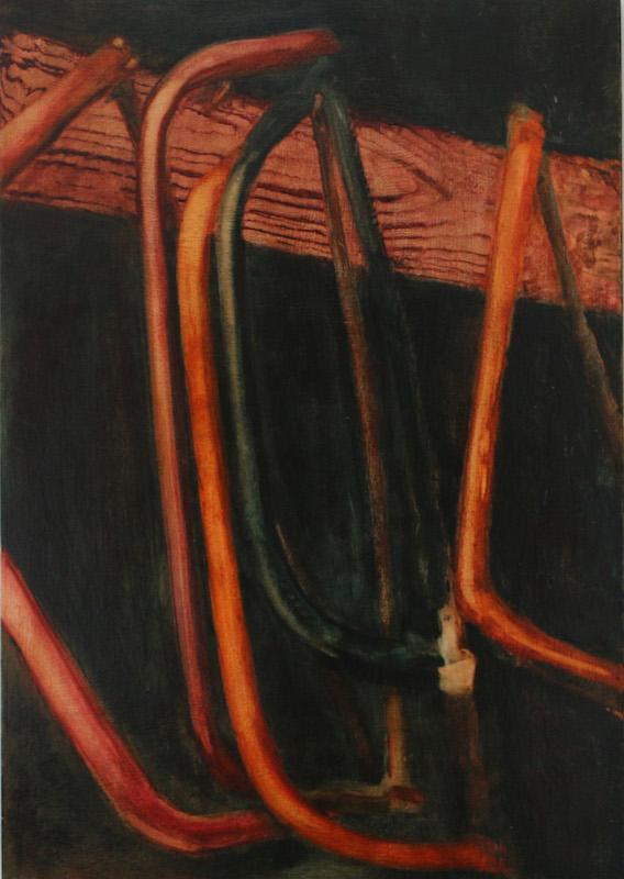 'coexist'- oil on wood 30cmx42cm