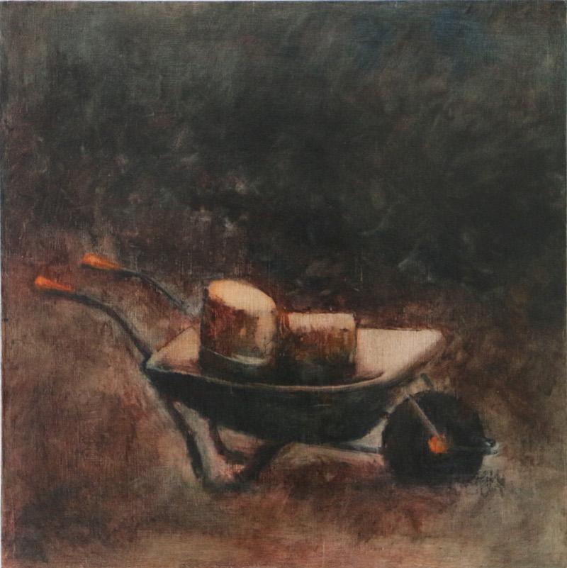 'conveyance' - oil on wood 30cm x30cm