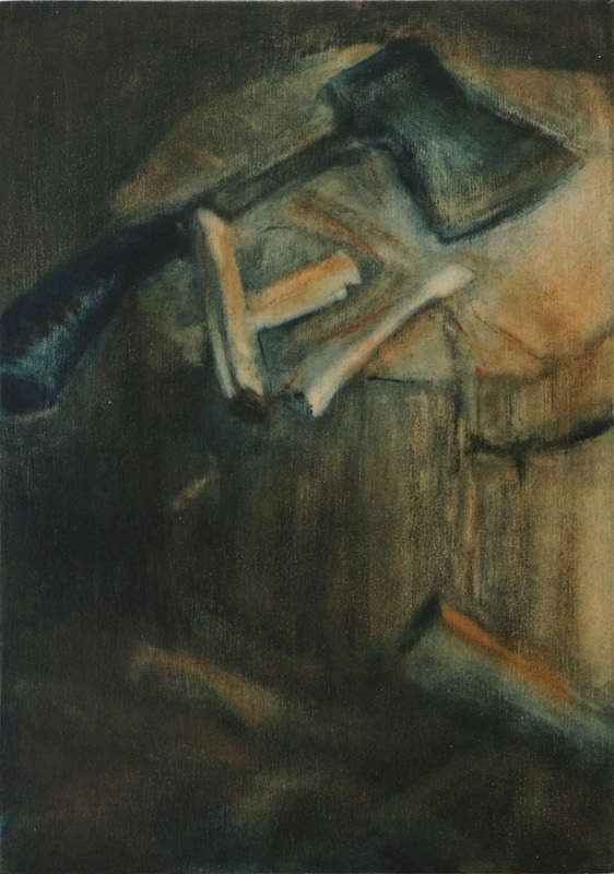 'crackle' oil on wood 30cm x 23cm