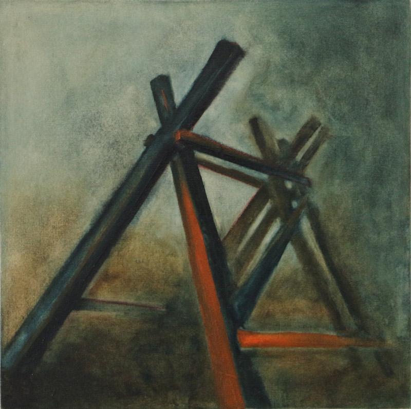 'cradle' - oil on wood 30cmx30cm